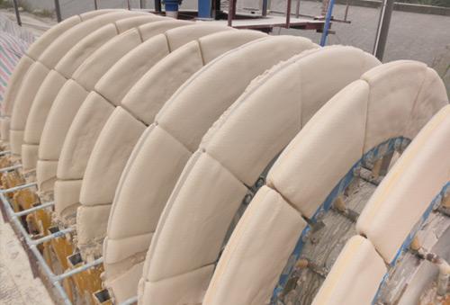 河南某公司钾长石陶瓷过滤机现场使用图